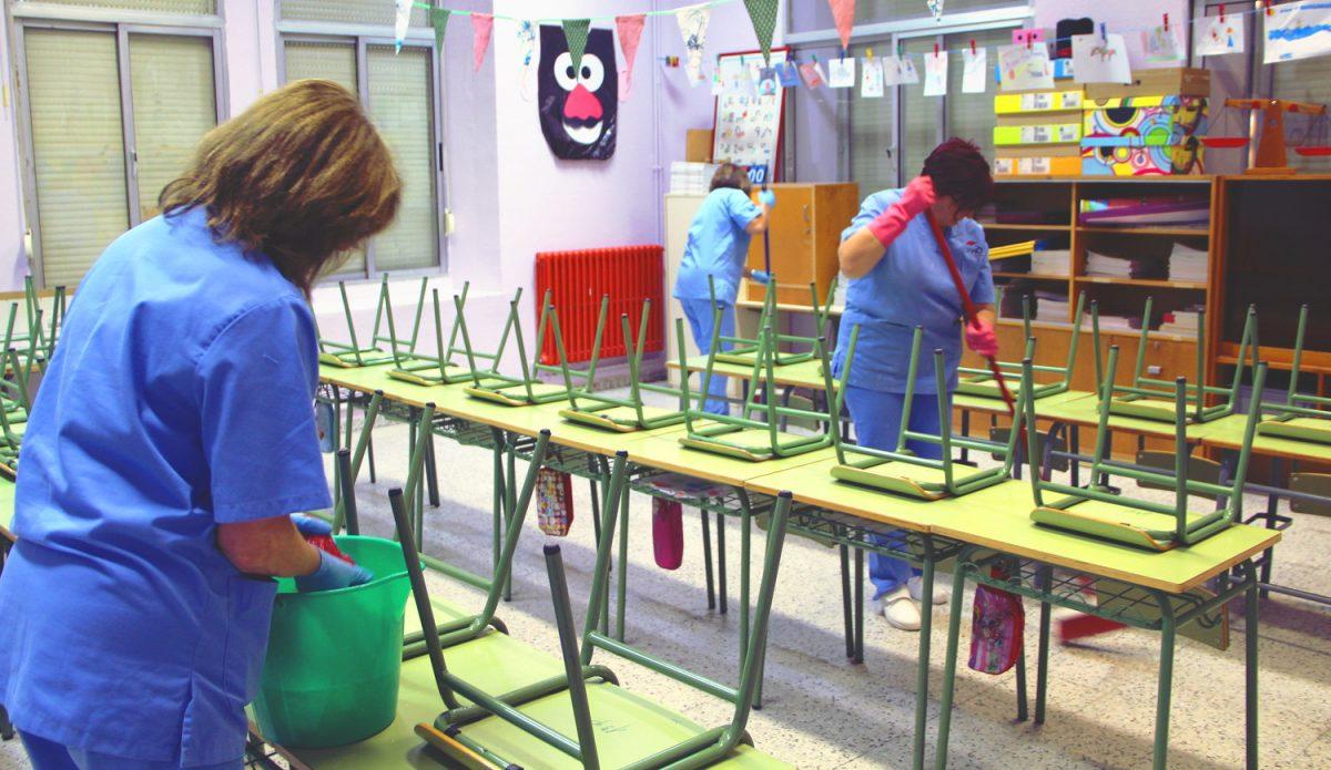 σχολικές καθαρίστριες