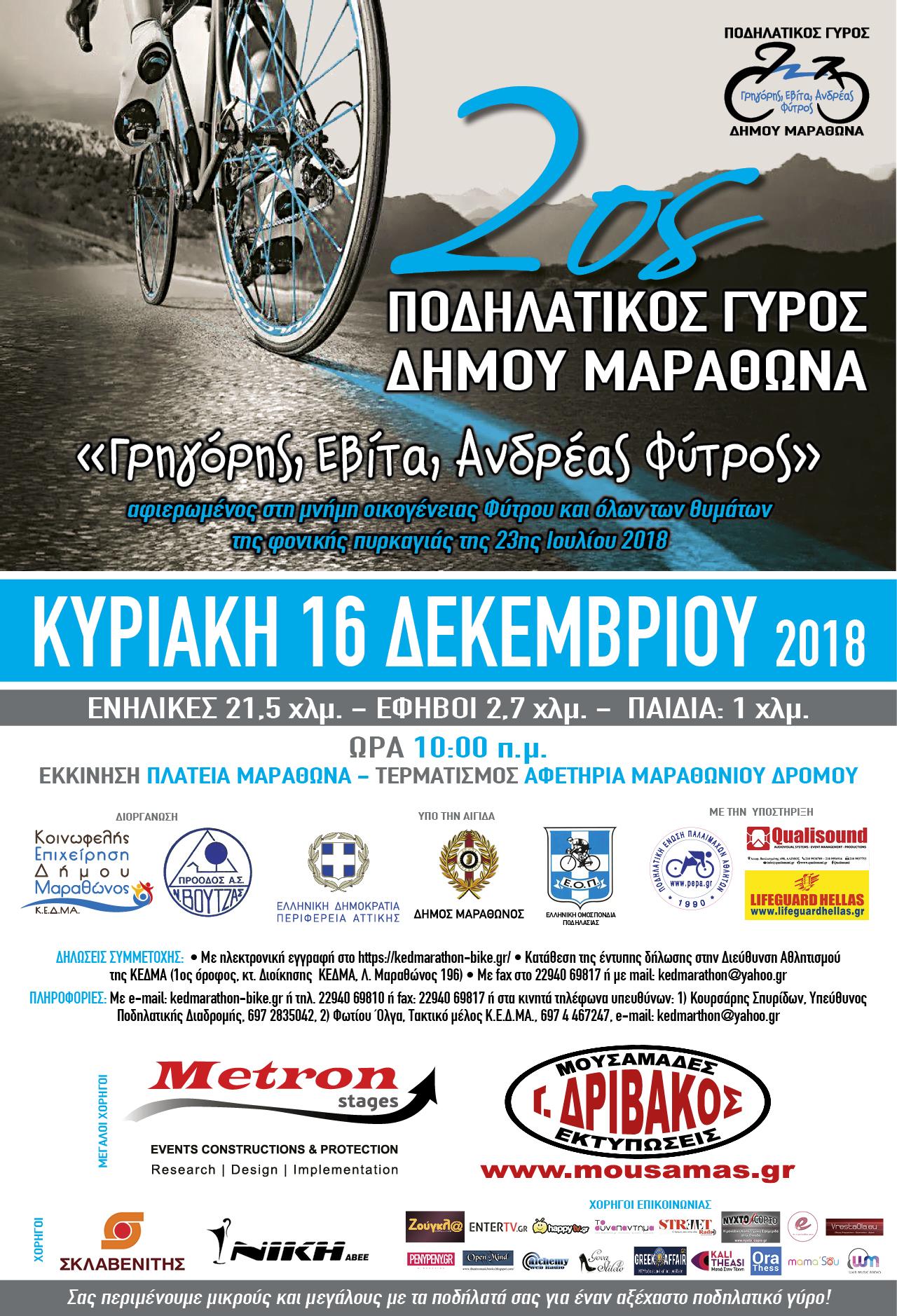 2ος ποδηλατικός γύρος αφίσα