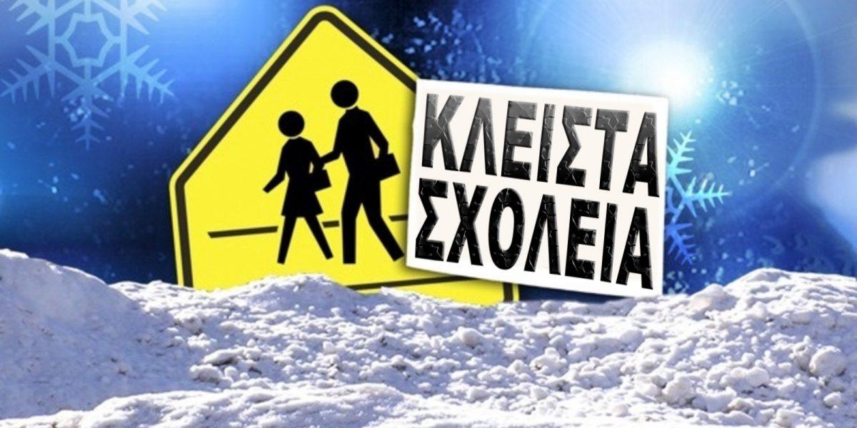 Ανατολή σχολείων λόγω παγετού